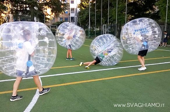 affitto bubble soccer milano san nicolao
