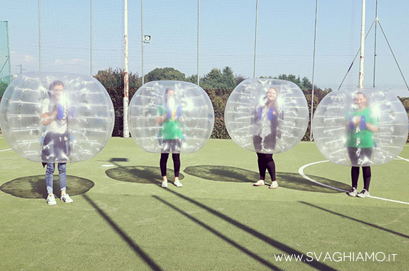 bubble football casatenovo noleggio