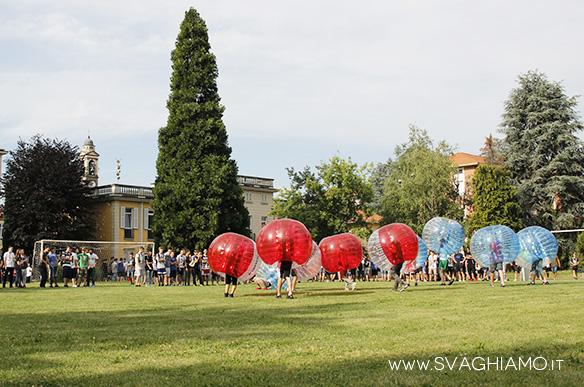 noleggio bubble football arese parrocchia