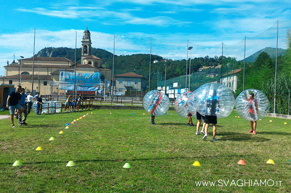 noleggio bubble football bergamo
