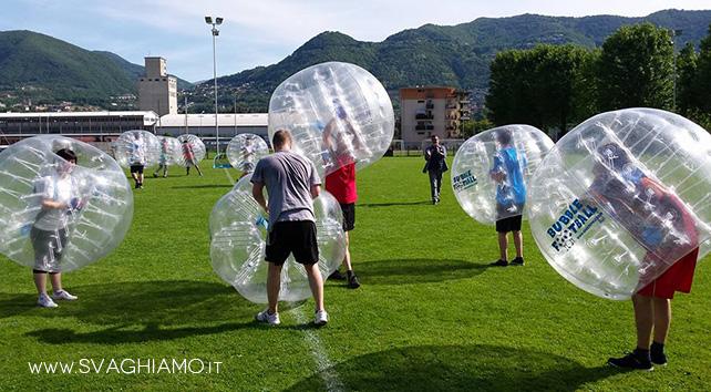 noleggio bubble football