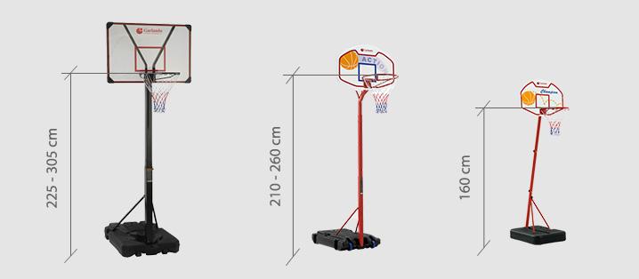 noleggio impianti basket misure