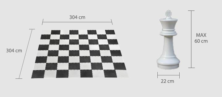 noleggio scacchi giganti misure