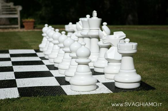 schacchi giganti bianchi